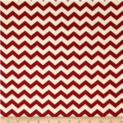 Nested Owls Chevron Red