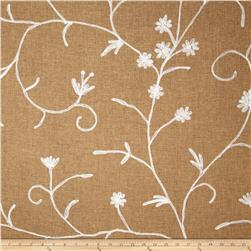Bartow Embroidered Garden State Floral Brown/White