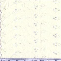 Lightweight Embroidered Eyelet Ivory Fabric