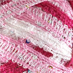 Red Heart Boutique Sashay Sequins Yarn Cotton Candy