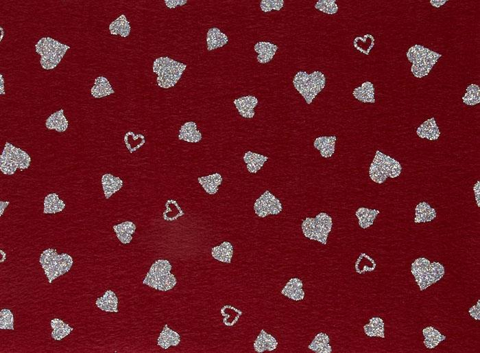 Fanci Felt 9'' x 12'' Craft Cut Twinkle Heart Ruby