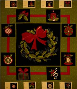 Moda Delightful December 36 In. Panel Pine