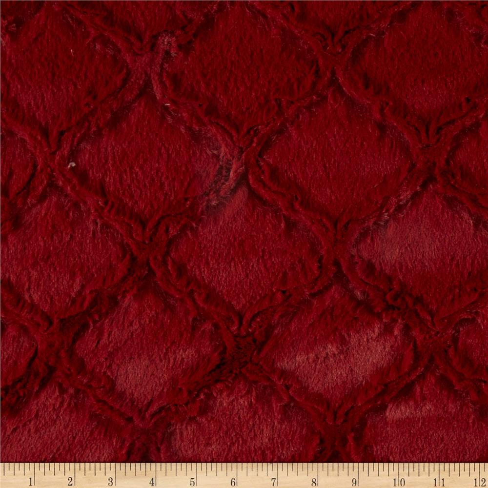Shannon Minky Soft Lattice Cuddle Garnet