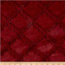 Minky Soft Lattice Cuddle Garnet Fabric