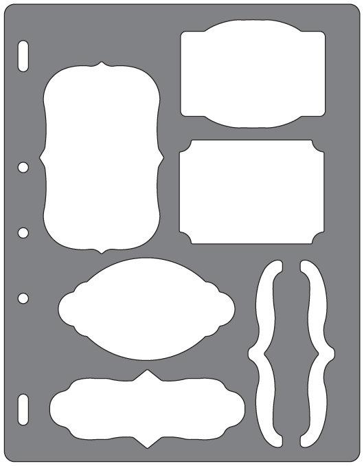 Fiskars Shape Template Brackets & Journal