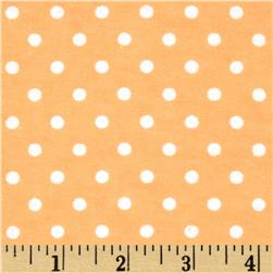 Aunt Polly's Flannel Small Polka Dots Peach/White