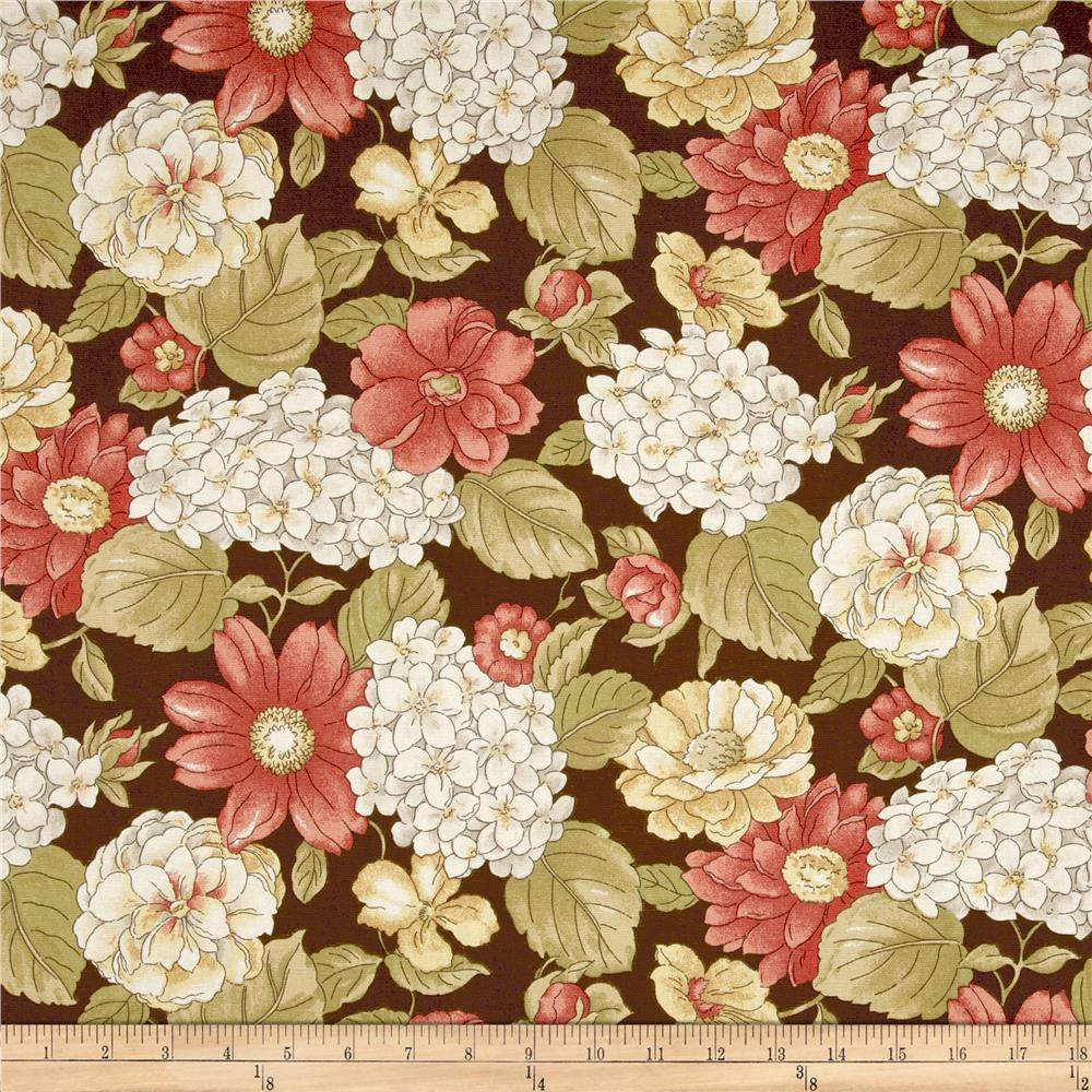 Madison Home Decor Ella Floral Chocolate