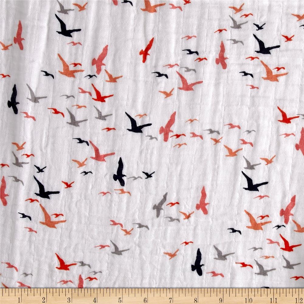 Shannon Embrace Double Gauze Birds Eye View Coral