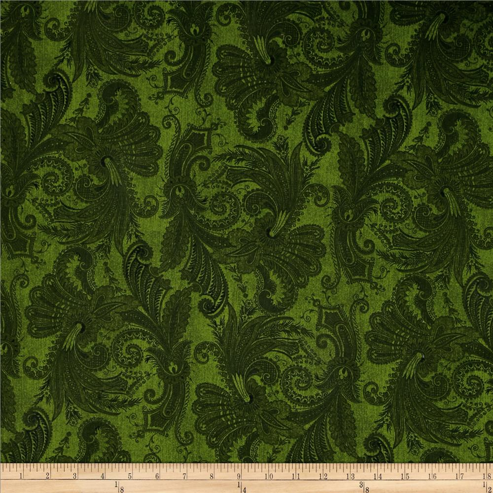 "108"" Wide Essentials Quilt Backing Marrakesh Green"
