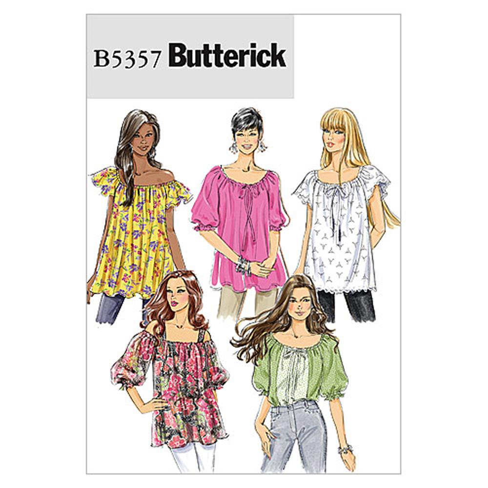 Butterick Misses' Top Pattern B5357 Size 0Y0