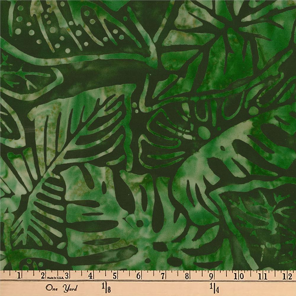 Artisan Batiks Totally Tropical Fern Leaves Palm
