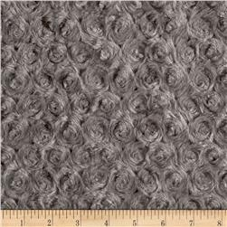 Minky Rose Cuddle Charcoal