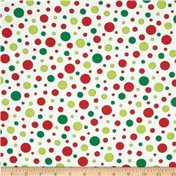 Moda Ho! Ho! Ho! Jolly Polk Dots Snow