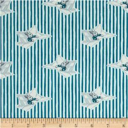 Goodnight Moon Organic Story Time Blue Fabric