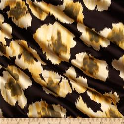 City Charmeuse Satin Ikat Yellow/Brown