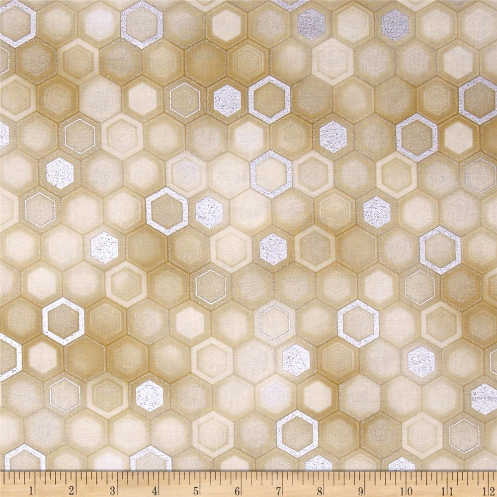 Winter's Grandeur Metallic Honeycomb Natural