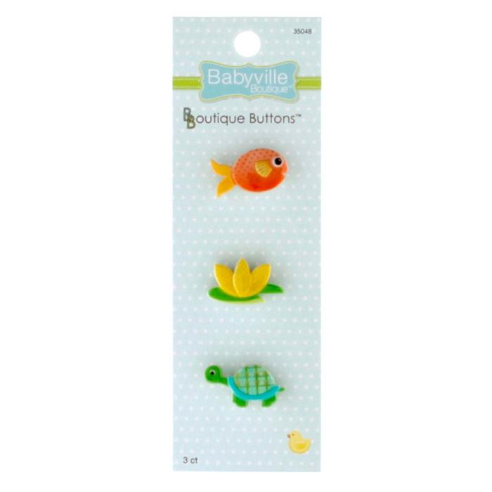 Babyville Boutique Buttons Lily Pond