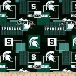 Collegiate Cotton Broadcloth Michigan State University Block