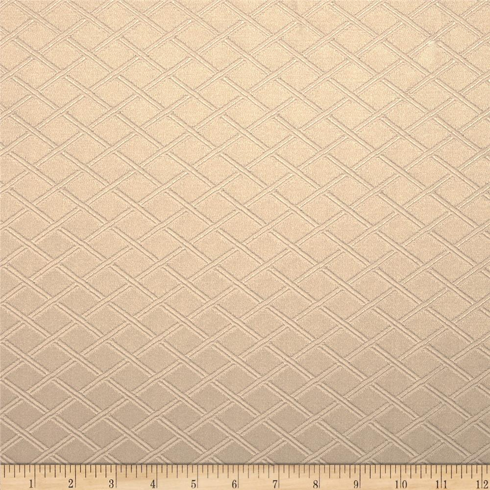 Duralee Lattice Diamonds Satin Jacquard Pewter