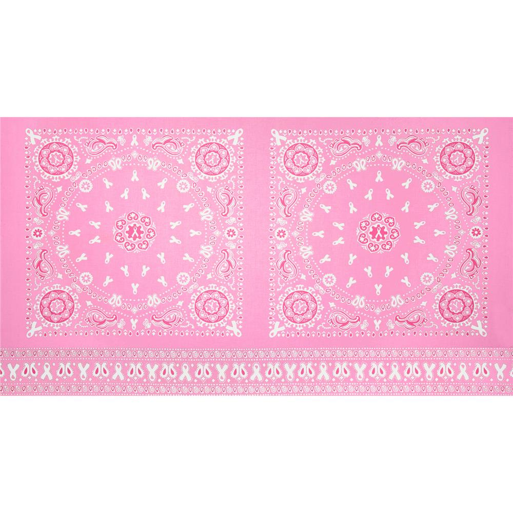 Project Pink Bandana Panel Pink/White