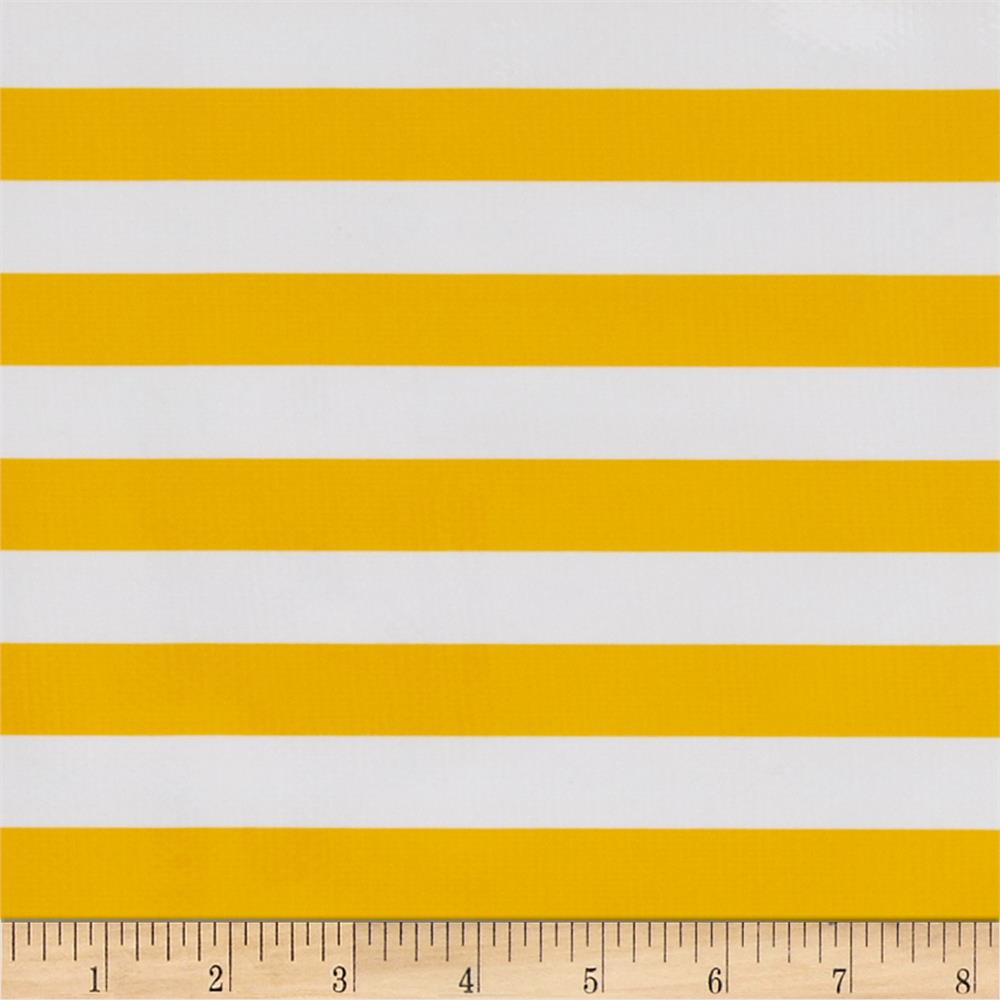 Oil Cloth Stripes Yellow
