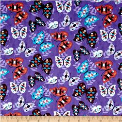 Moda Native Sun Butterflies Amethyst Fabric