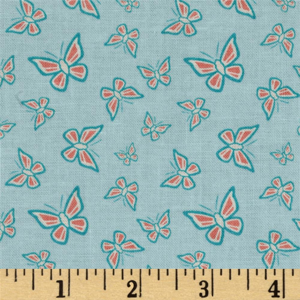 Grace Butterflies Teal