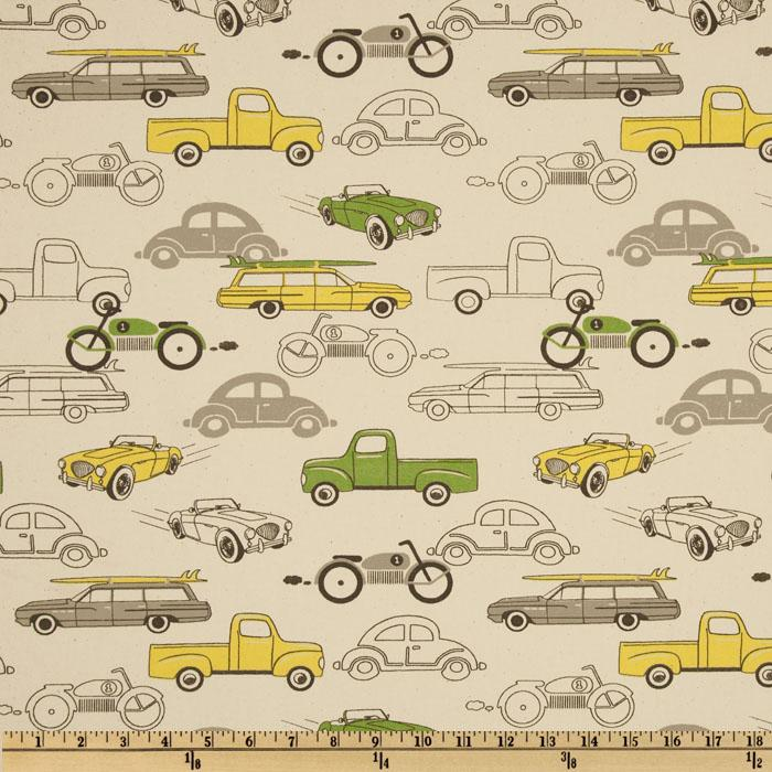 Premier Prints Retro Rides Clover/Natural