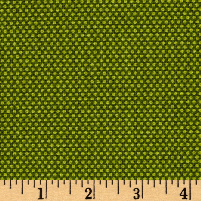 Bree Tiny Dot Green Fabric