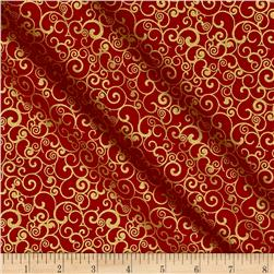 Penny Rose Joyous Christmas Sparkle Swirl Red