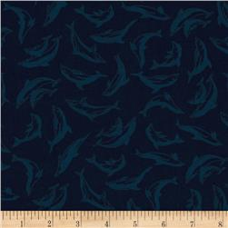 Make A Splash Small Dolphins Dark Blue