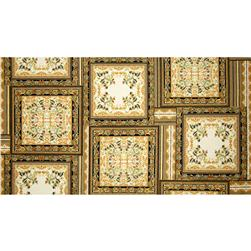 Antonella Metallic Square Patch Vintage/Gold