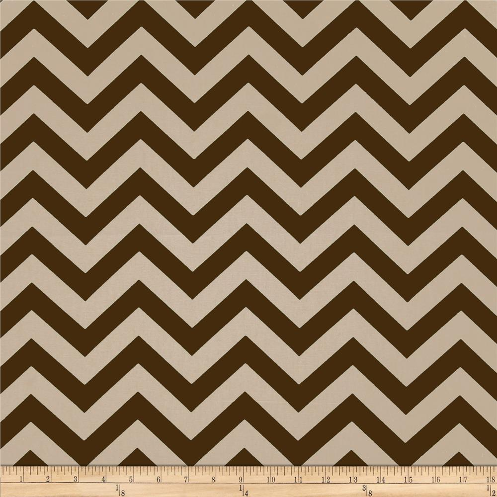 Premier Prints Zig Zag Pewter Brown/Natural