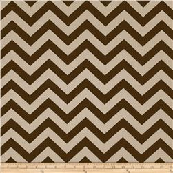 Premier Prints Zig Zag Pewter Brown/Natural Fabric