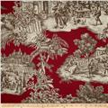 Duralee Home Ernest Toile Red