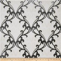 Fabricut Gwyneth Wallpaper Cream Black (Double Roll)
