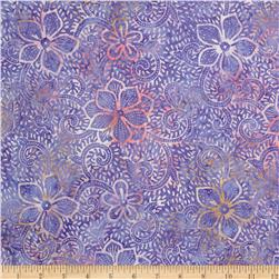 Moda Breezy Batik Packed Floral Violet/Cream