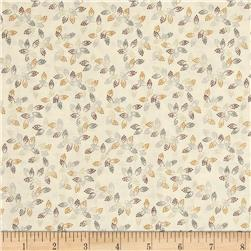 "108"" Wide Spangle Quilt Back Dotted Leaf Cream"