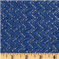 Copacabana Stretch Crochet Chevron Lace Cornflower Blue