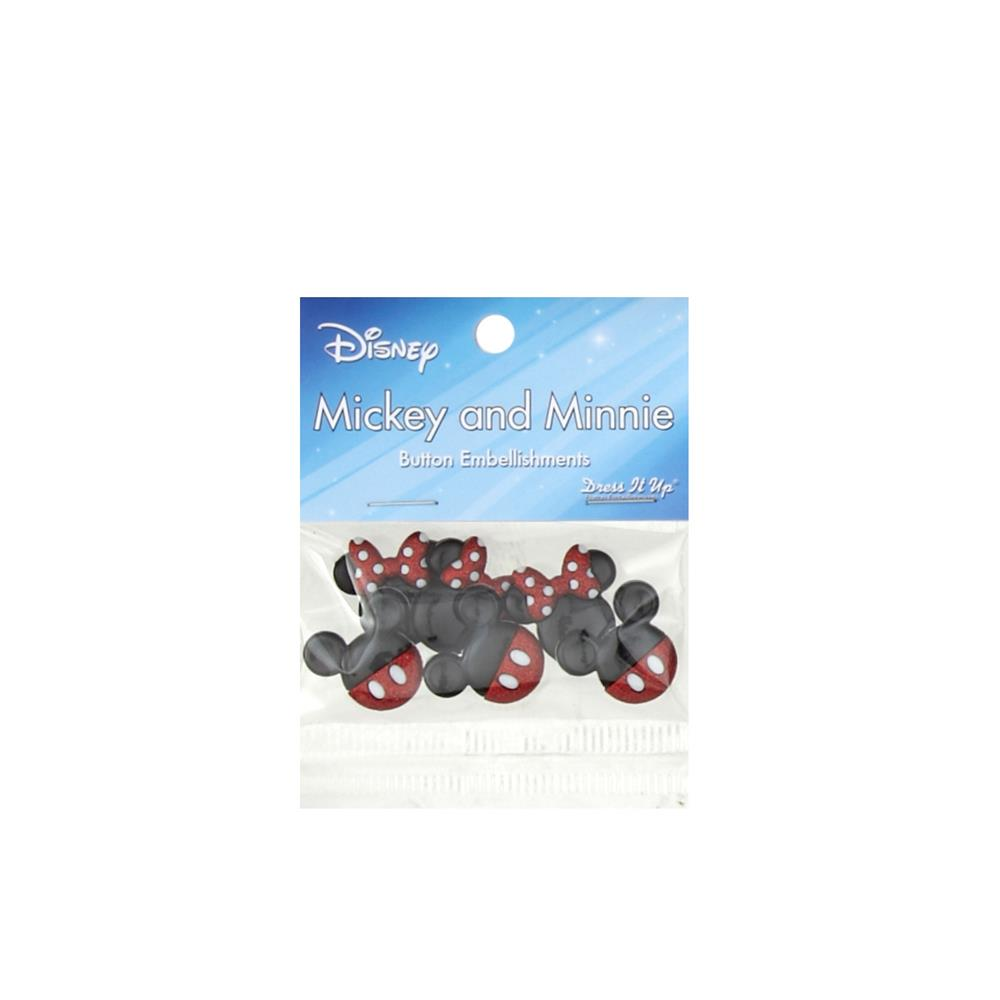 Dress It Up Disney Mickey and Minnie (Stylized Heads) Button