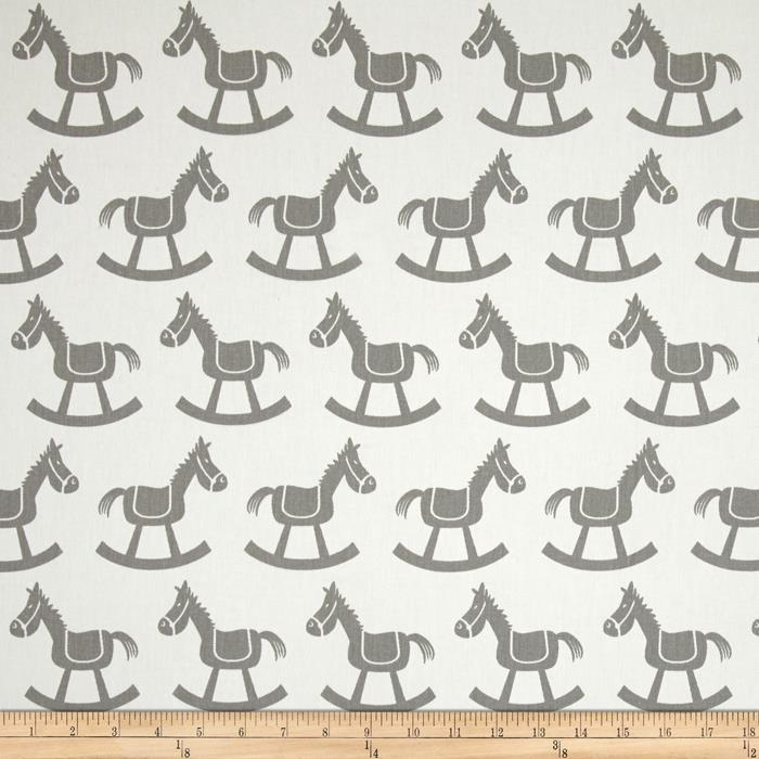 Premier Prints Rocking Horse Twill White/Storm