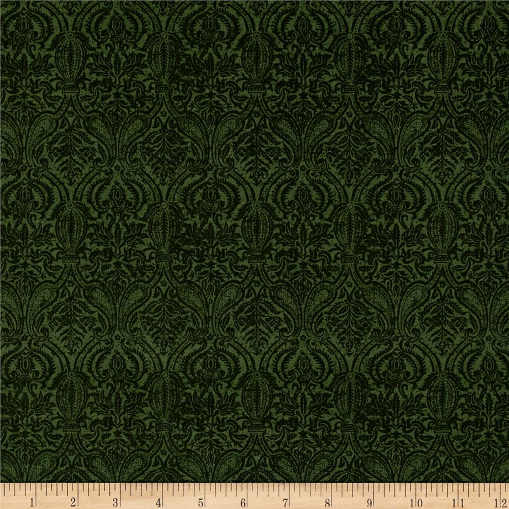 Penny Rose Joyous Christmas Damask Green