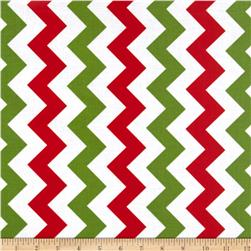 Riley Blake Laminate Medium Chevron Christmas