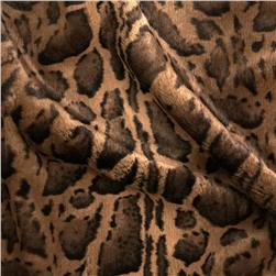 Tissavel Luxury Faux Sante Fe Jaguar Fur Brown