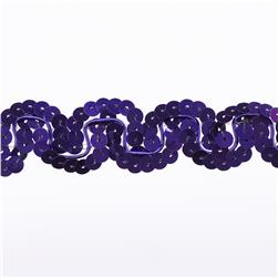 Team Spirit #50 Scallop Sequin Trim Plum