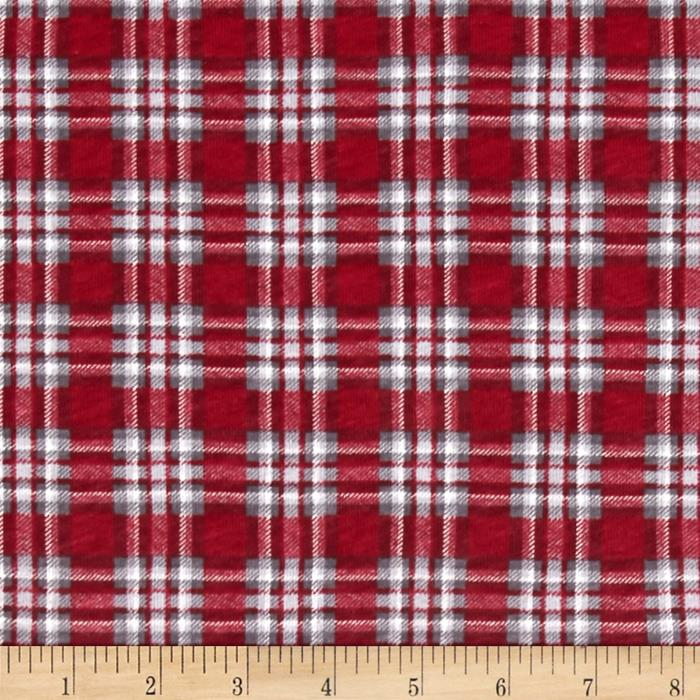 fabric merchants cotton jersey knit christmas plaid discount designer fabric fabriccom - Christmas Plaid