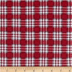 Stretch Jersey Knit Christmas Plaid