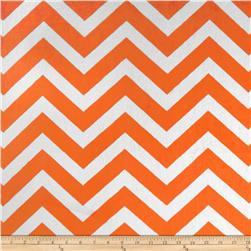 Minky Cuddle Chevron Orange/Snow