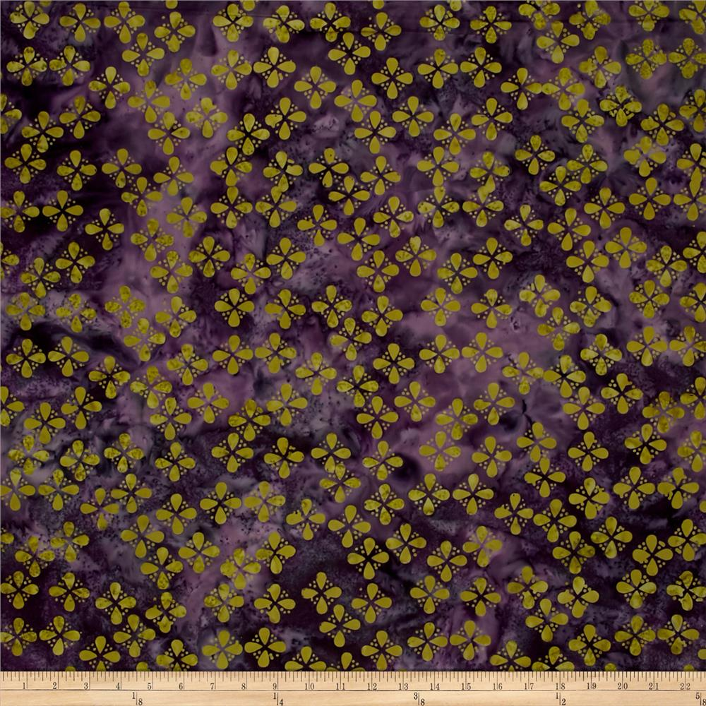 Island Batik Seeds & Dots Purple/Green