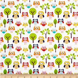 Riley Blake Lazy Day Lazy Owls White
